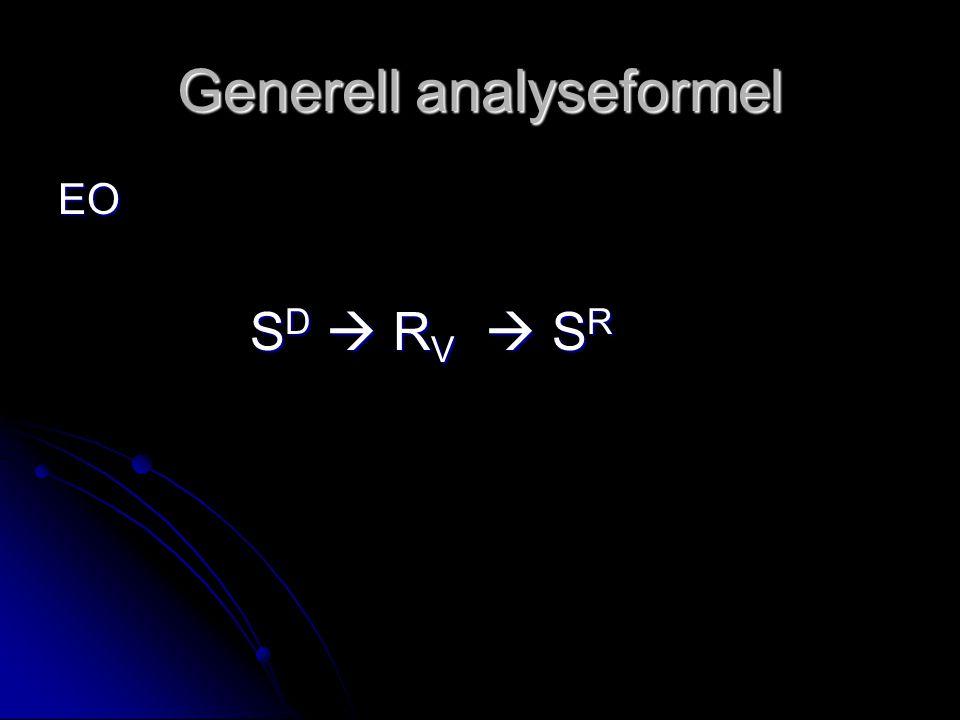 Generell analyseformel