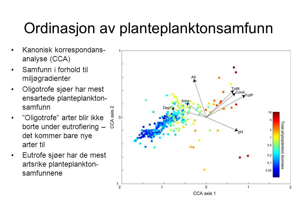 Ordinasjon av planteplanktonsamfunn
