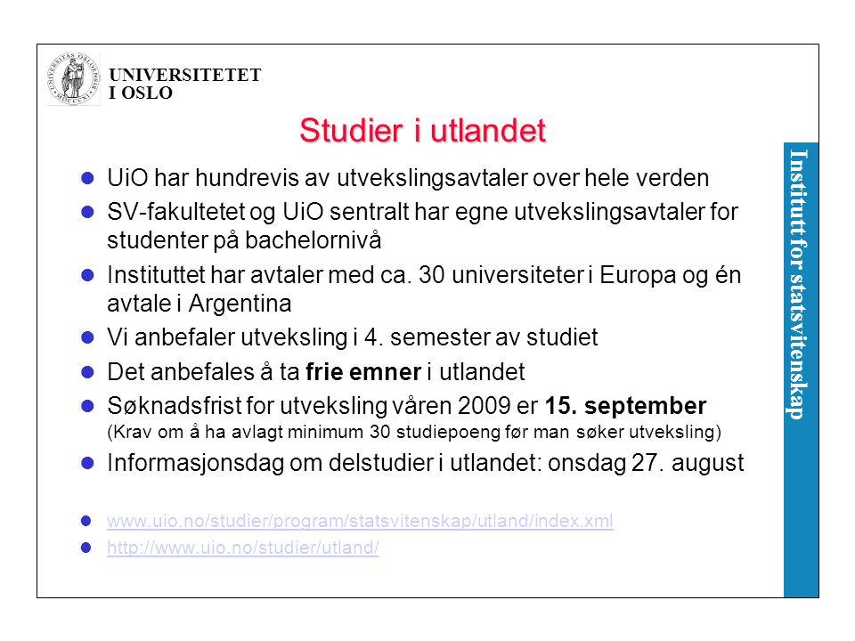Studier i utlandet UiO har hundrevis av utvekslingsavtaler over hele verden.
