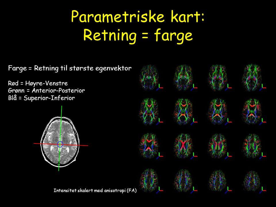 Parametriske kart: Retning = farge
