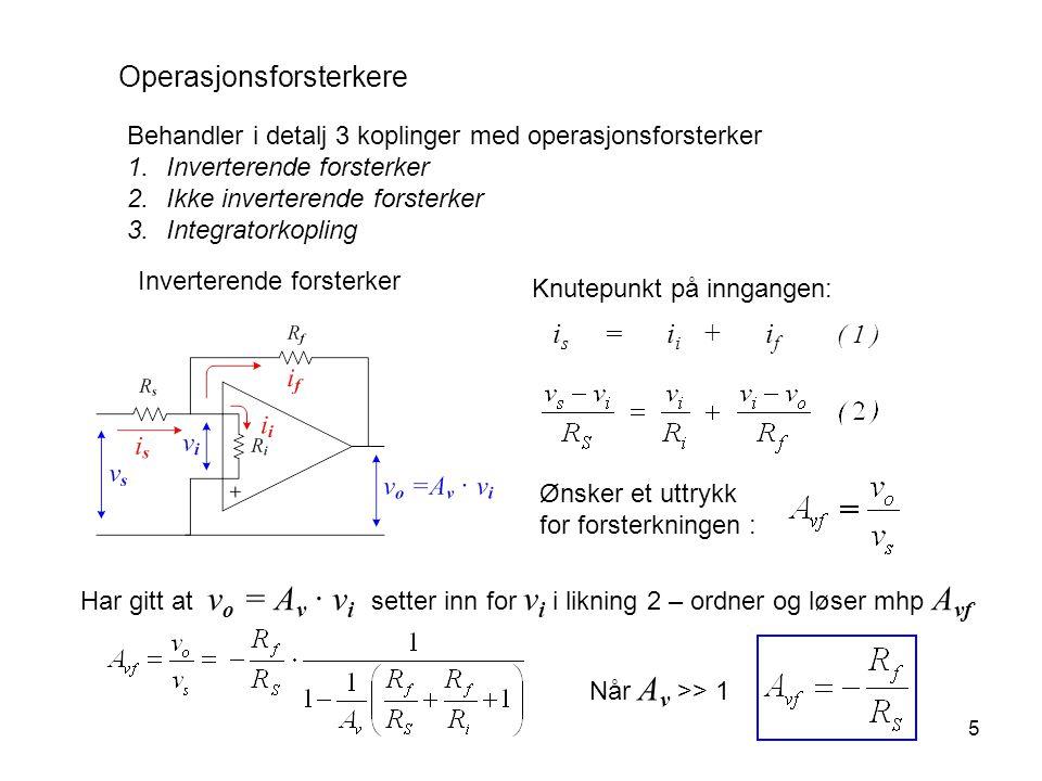 is = ii + if ( 1 ) Operasjonsforsterkere