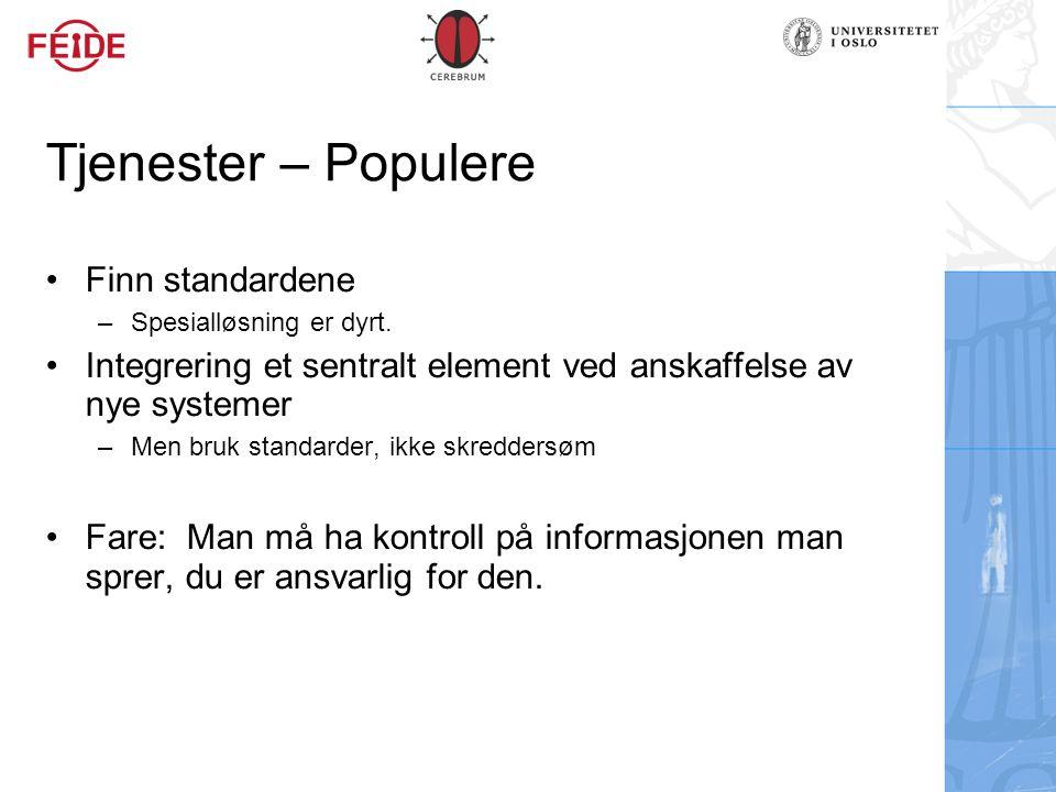Tjenester – Populere Finn standardene