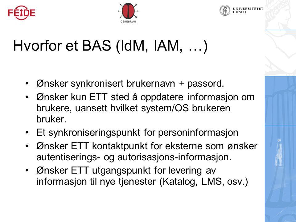 Hvorfor et BAS (IdM, IAM, …)