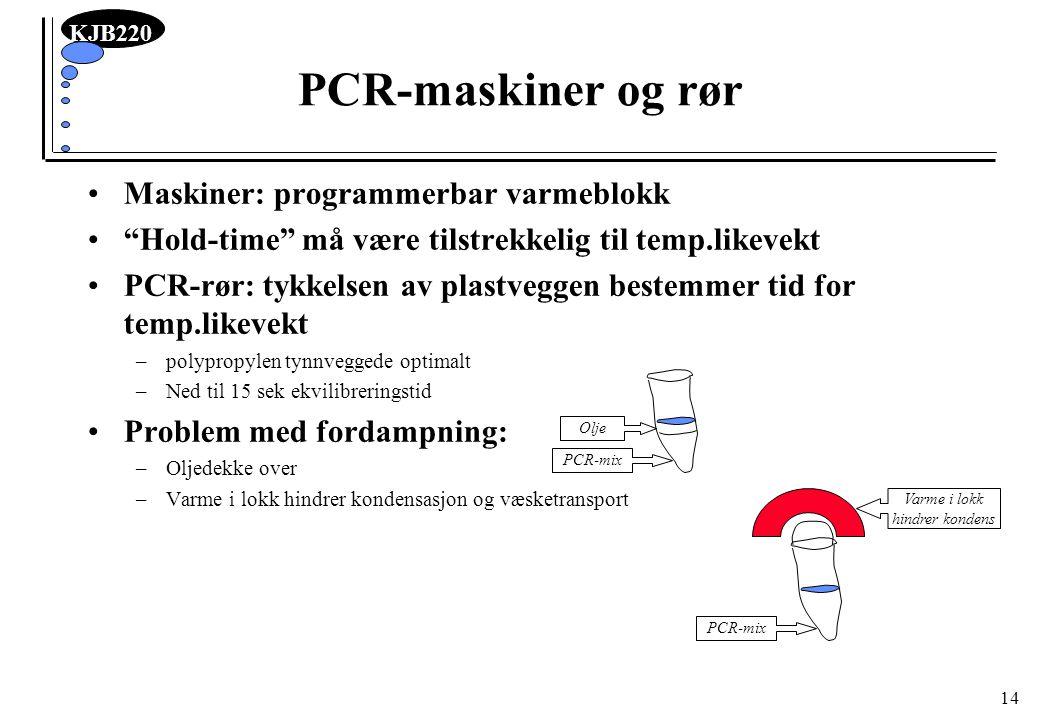 PCR-maskiner og rør Maskiner: programmerbar varmeblokk