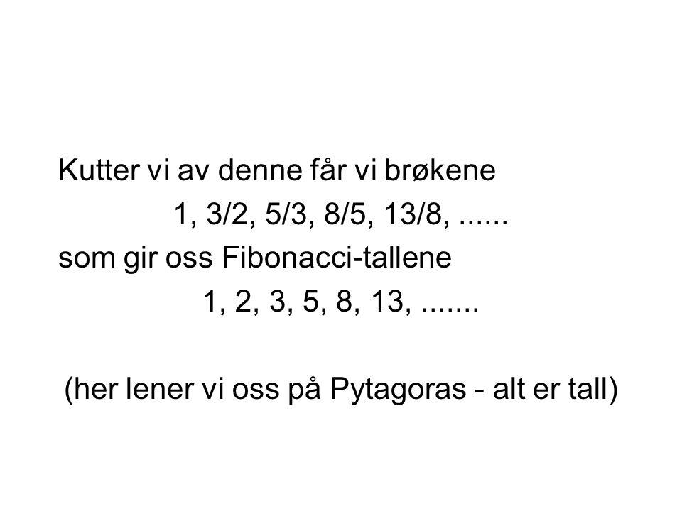 (her lener vi oss på Pytagoras - alt er tall)