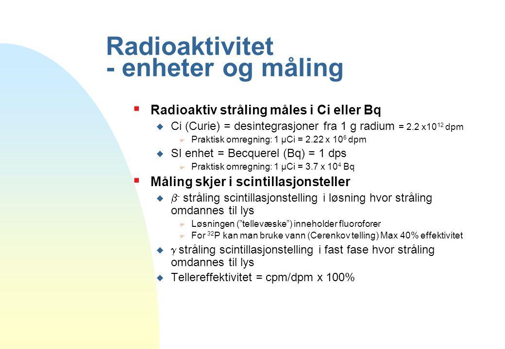Radioaktivitet - enheter og måling