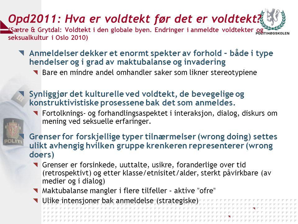 Opd2011: Hva er voldtekt før det er voldtekt