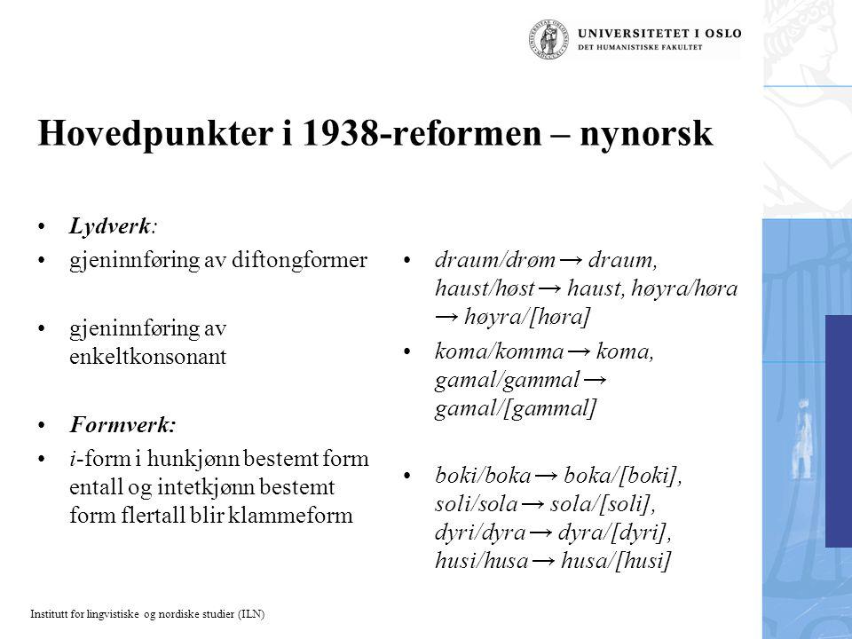 Hovedpunkter i 1938-reformen – nynorsk