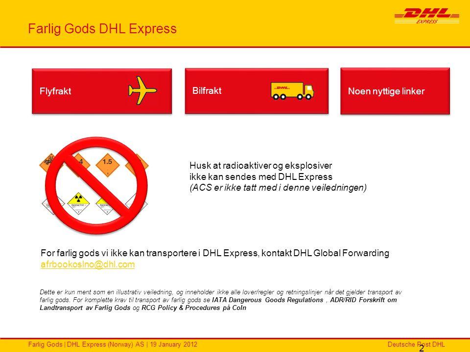 Farlig Gods DHL Express