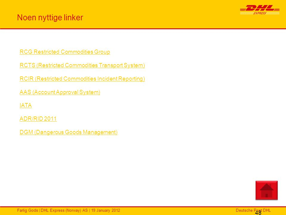 Noen nyttige linker RCG Restricted Commodities Group