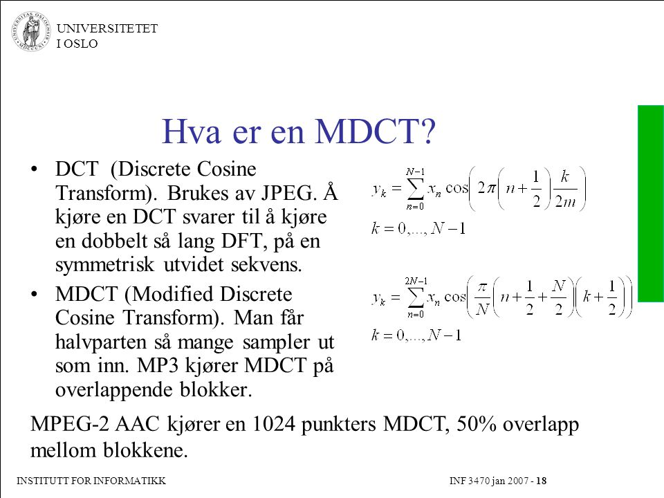 Hva er en MDCT