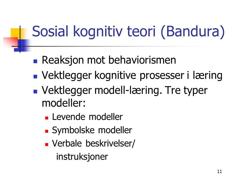 Sosial kognitiv teori (Bandura)