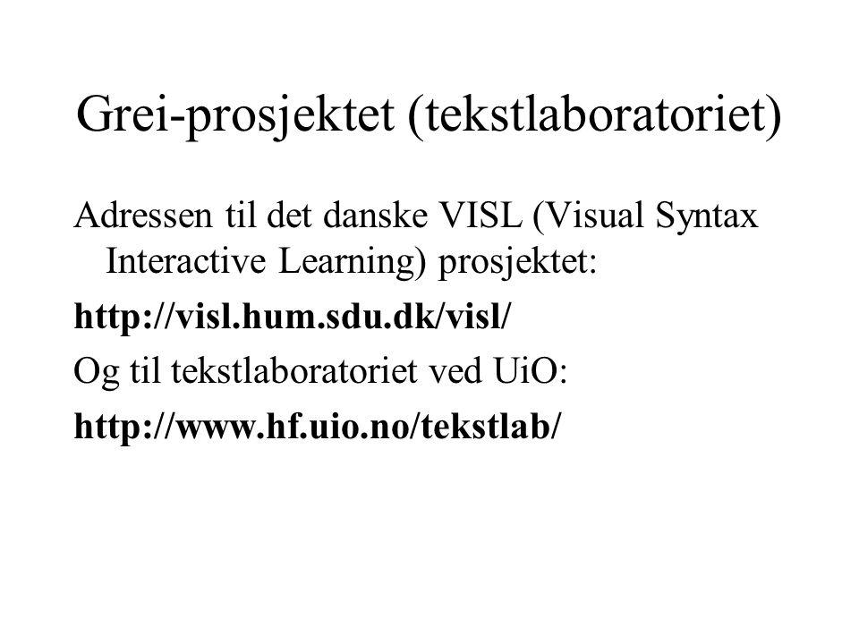 Grei-prosjektet (tekstlaboratoriet)