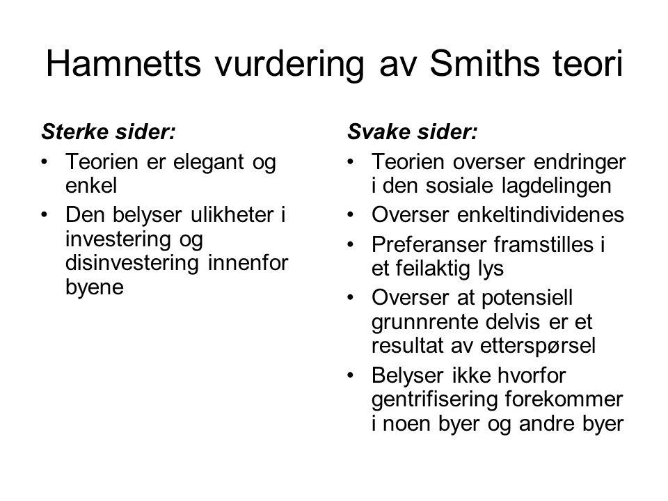 Hamnetts vurdering av Smiths teori