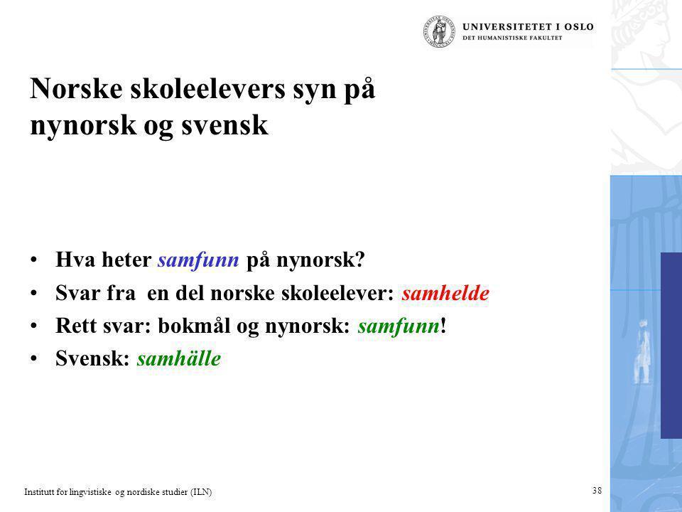 Norske skoleelevers syn på nynorsk og svensk
