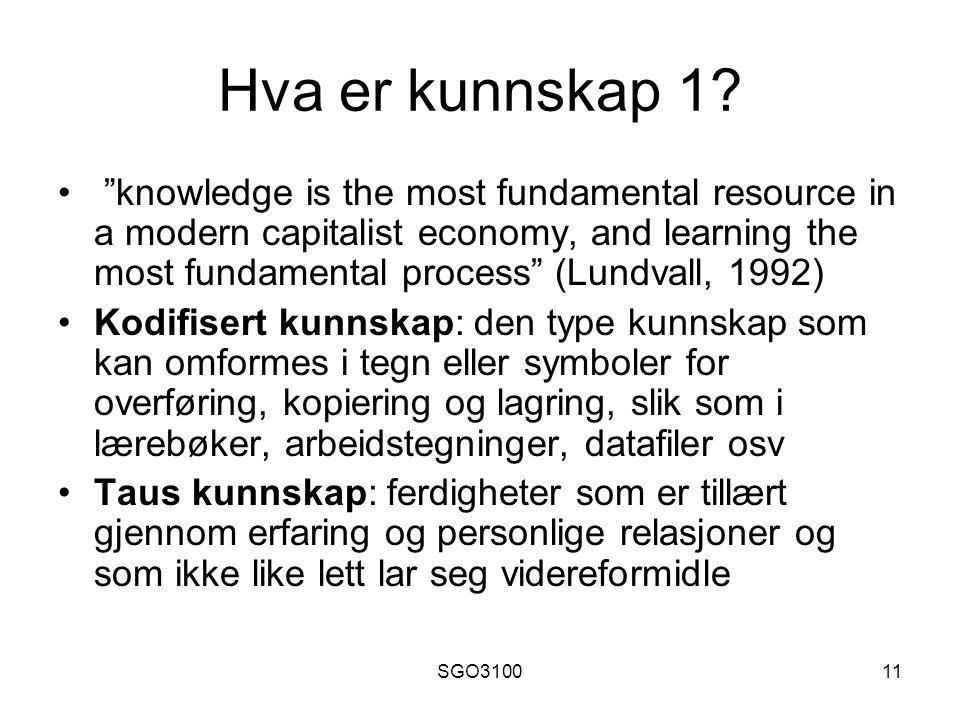 Hva er kunnskap 1