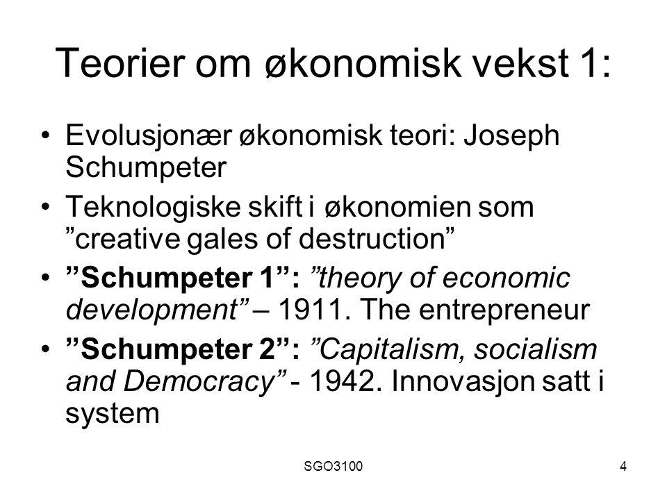 Teorier om økonomisk vekst 1: