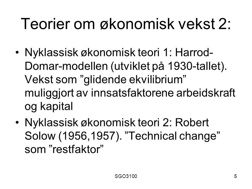 Teorier om økonomisk vekst 2: