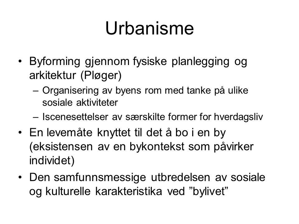 Urbanisme Byforming gjennom fysiske planlegging og arkitektur (Pløger)