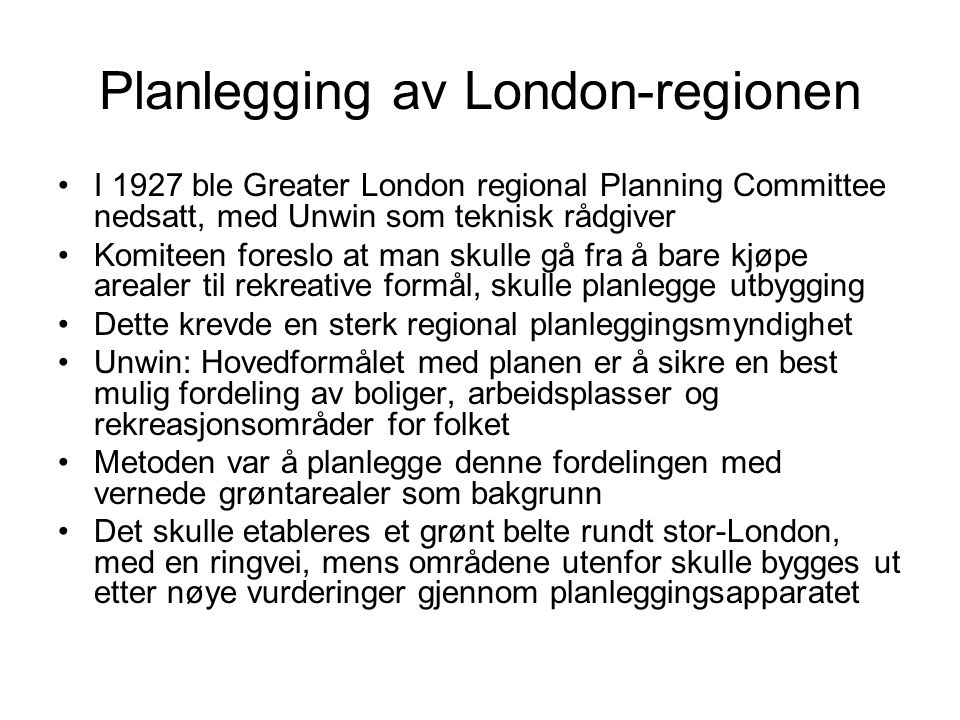 Planlegging av London-regionen