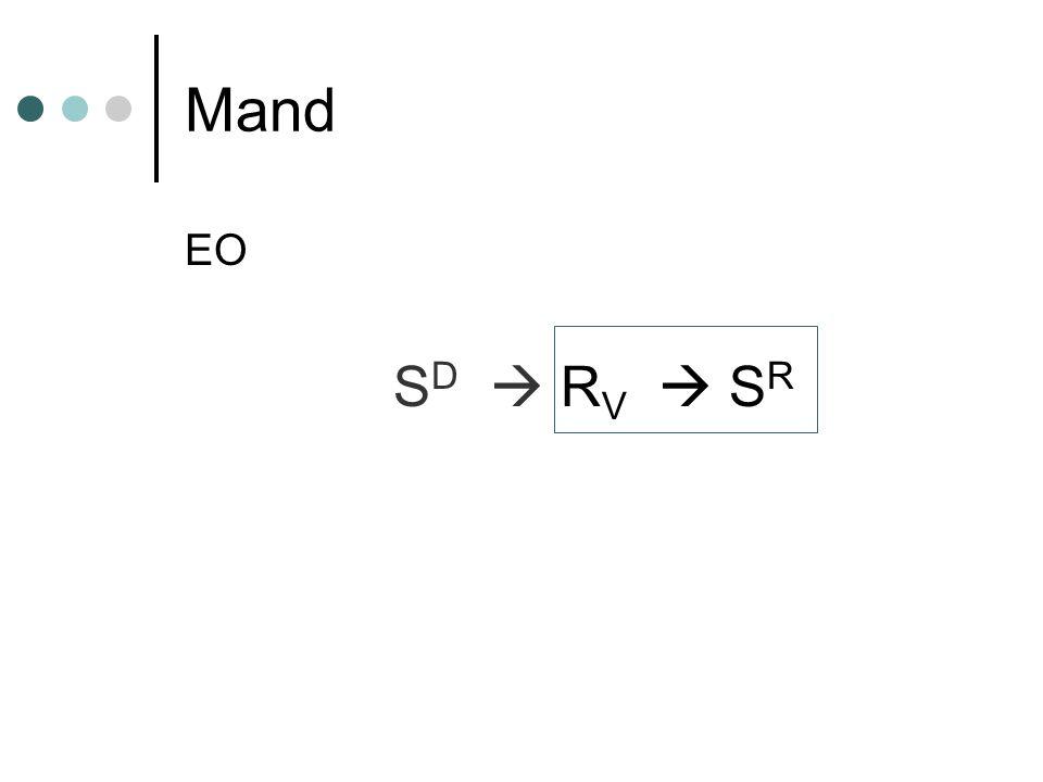 Mand EO SD  RV  SR