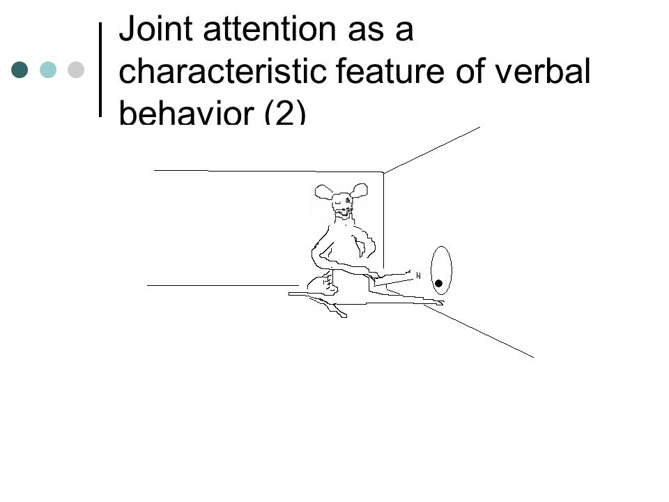 Joint attention as a characteristic feature of verbal behavior (2)