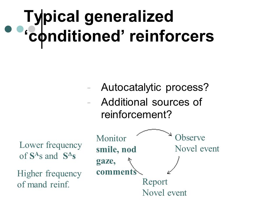 Typical generalized 'conditioned' reinforcers