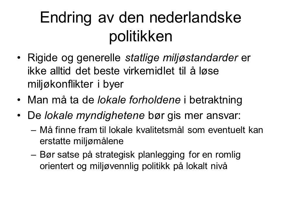 Endring av den nederlandske politikken