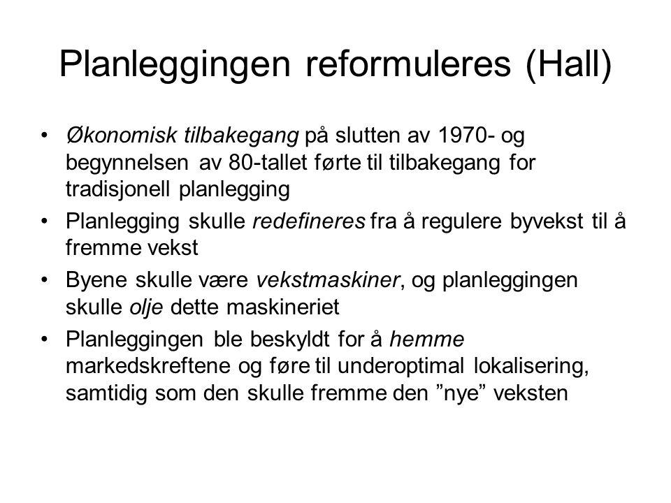 Planleggingen reformuleres (Hall)