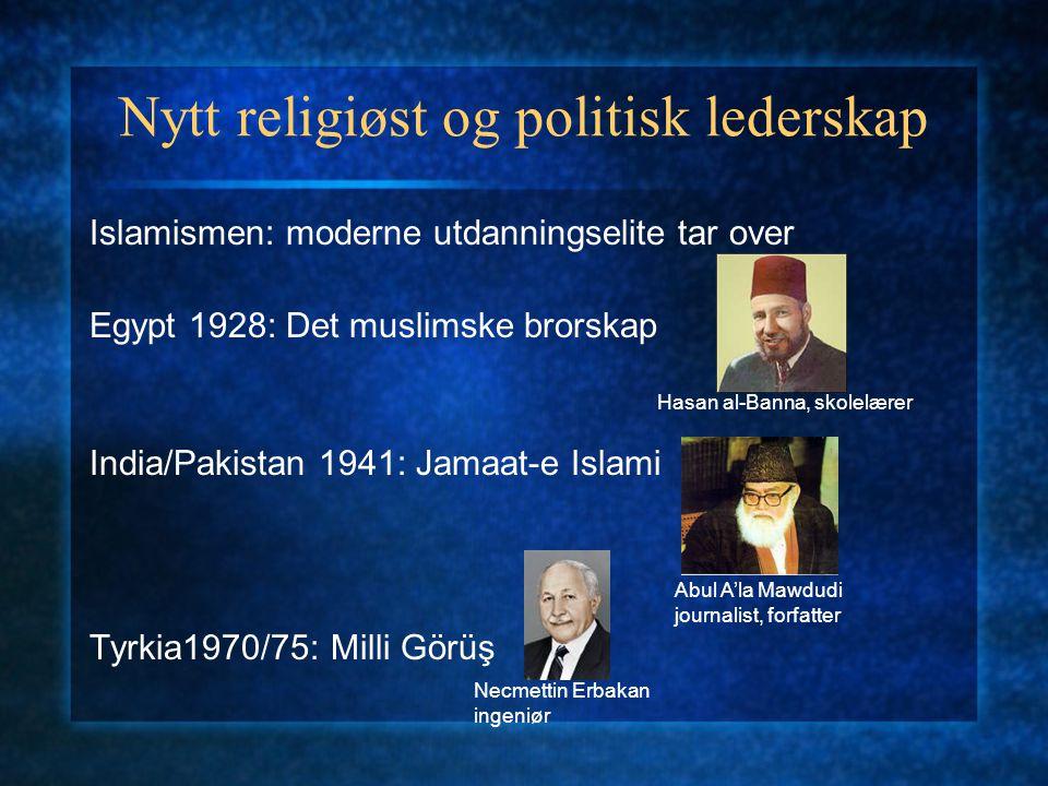 Nytt religiøst og politisk lederskap
