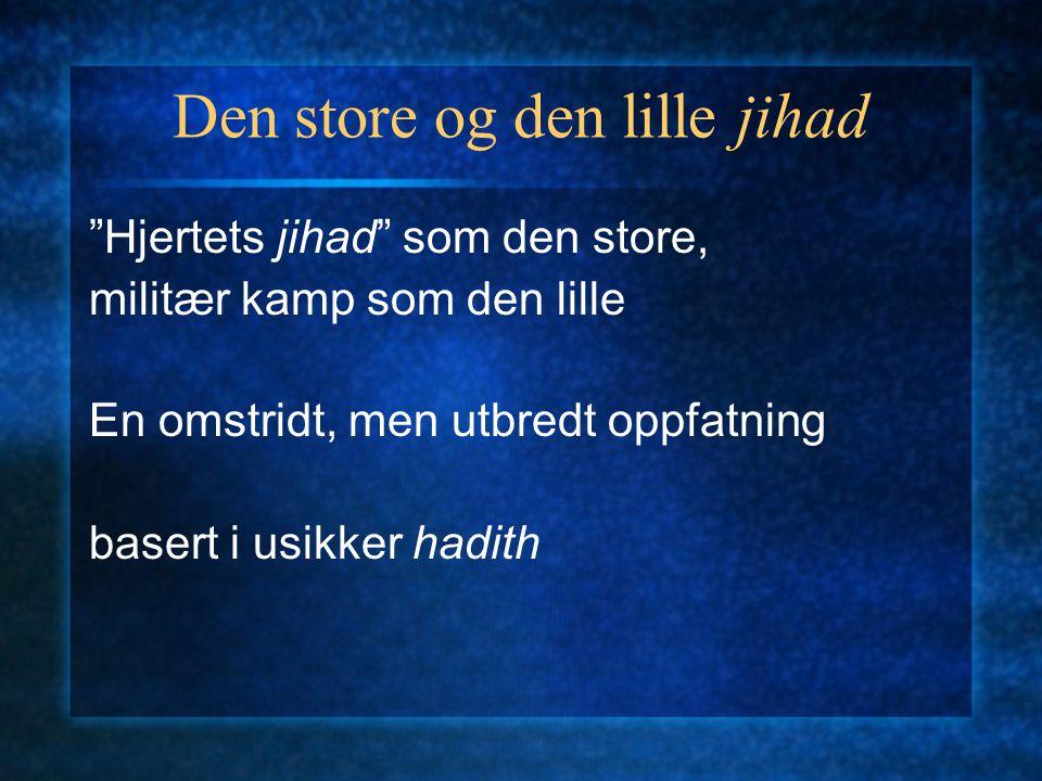 Den store og den lille jihad