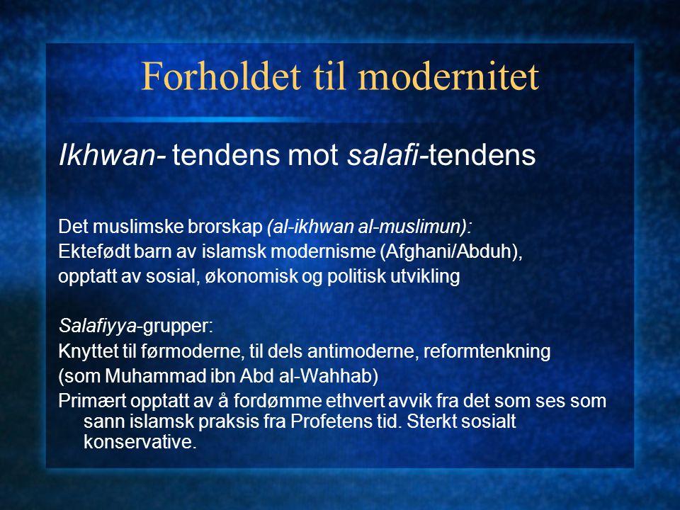 Forholdet til modernitet