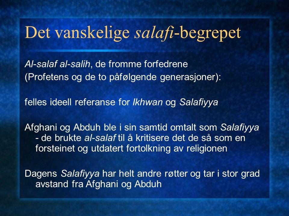 Det vanskelige salafi-begrepet