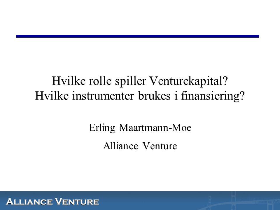 Erling Maartmann-Moe Alliance Venture