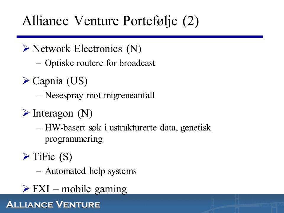 Alliance Venture Portefølje (2)