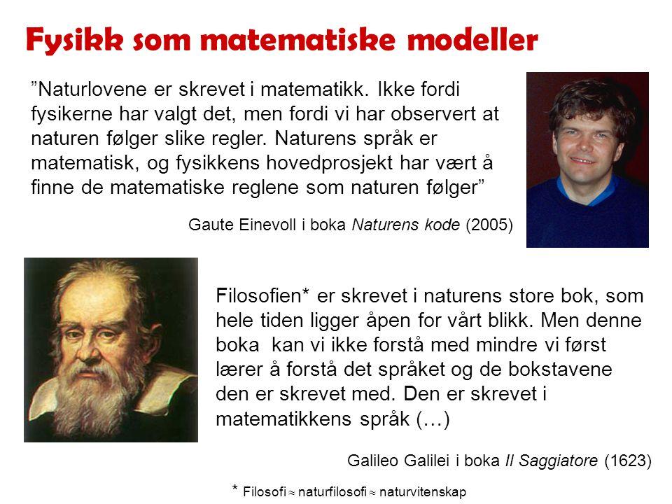 Fysikk som matematiske modeller