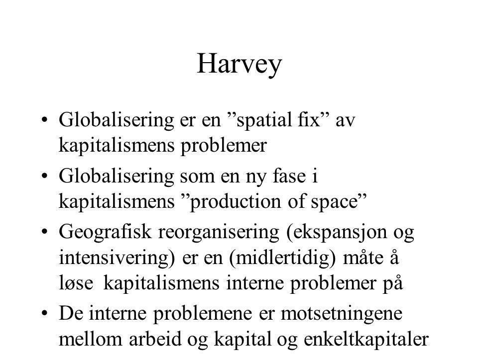 Harvey Globalisering er en spatial fix av kapitalismens problemer