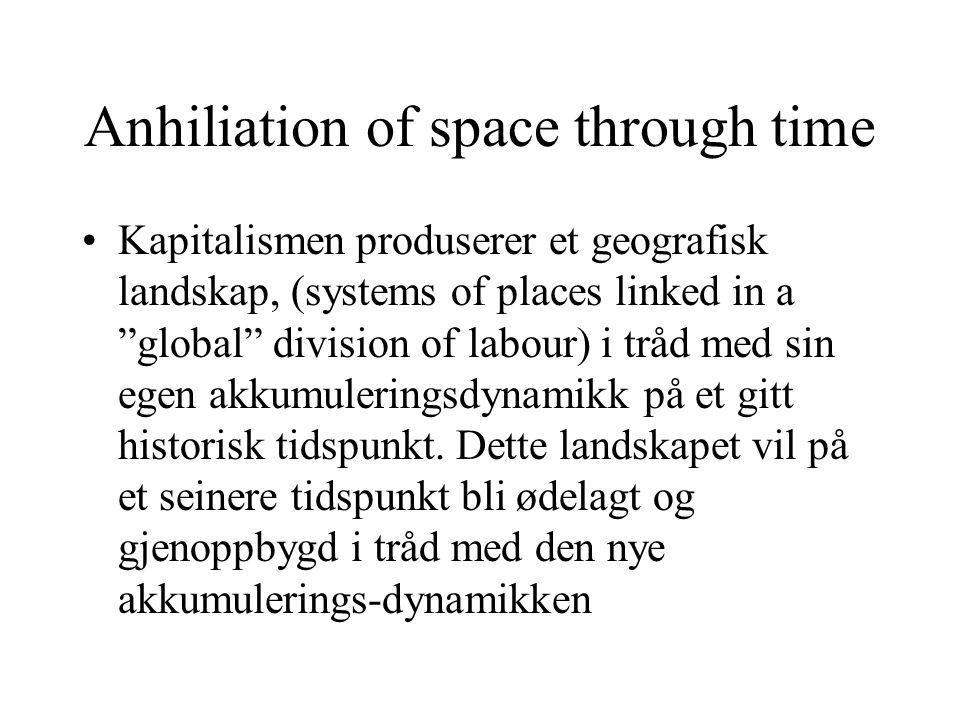 Anhiliation of space through time