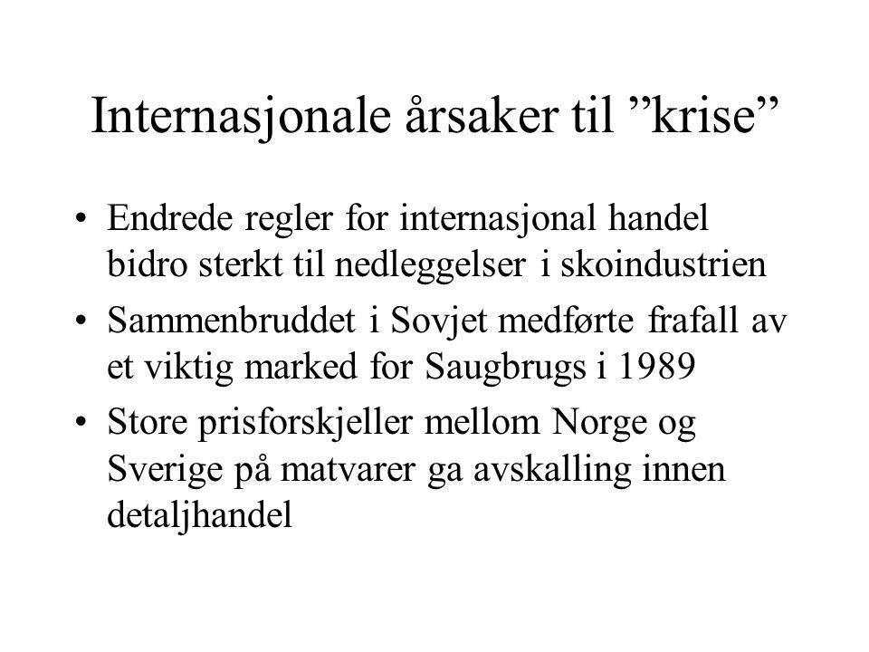 Internasjonale årsaker til krise