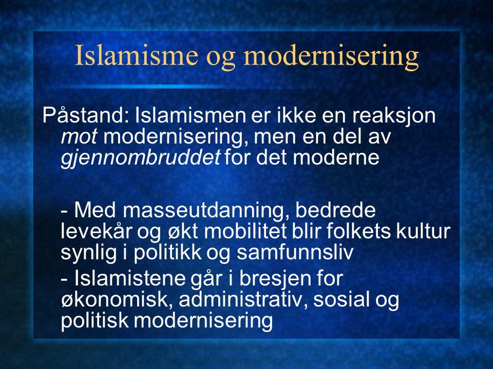 Islamisme og modernisering