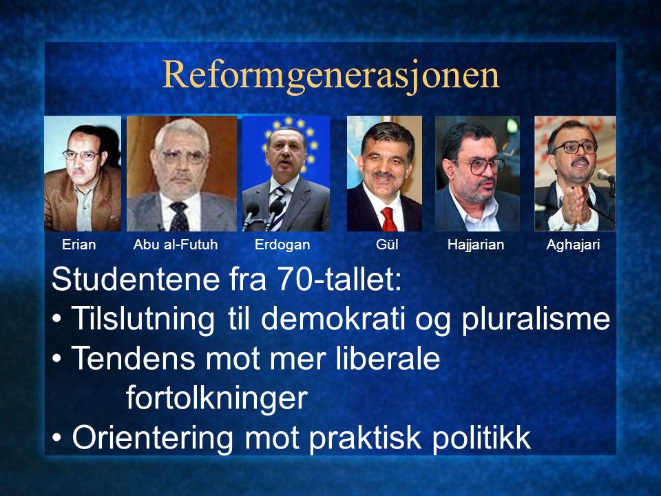 Reformgenerasjonen Studentene fra 70-tallet:
