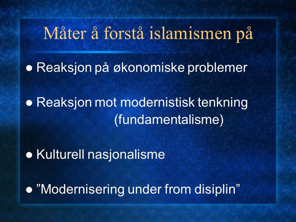 Måter å forstå islamismen på