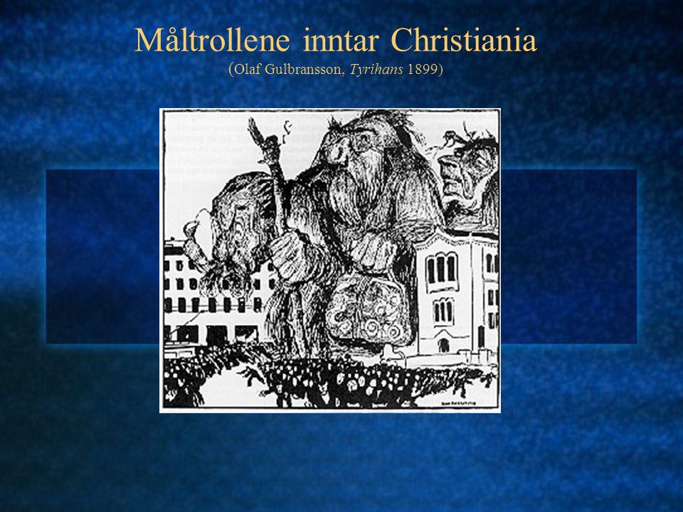 Måltrollene inntar Christiania (Olaf Gulbransson, Tyrihans 1899)
