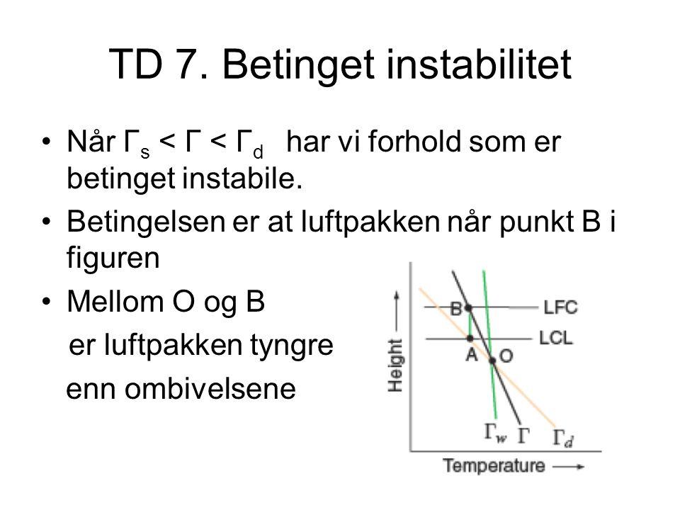TD 7. Betinget instabilitet