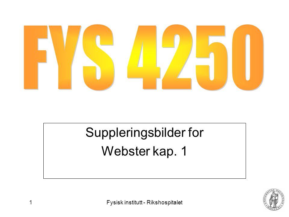 Suppleringsbilder for Webster kap. 1