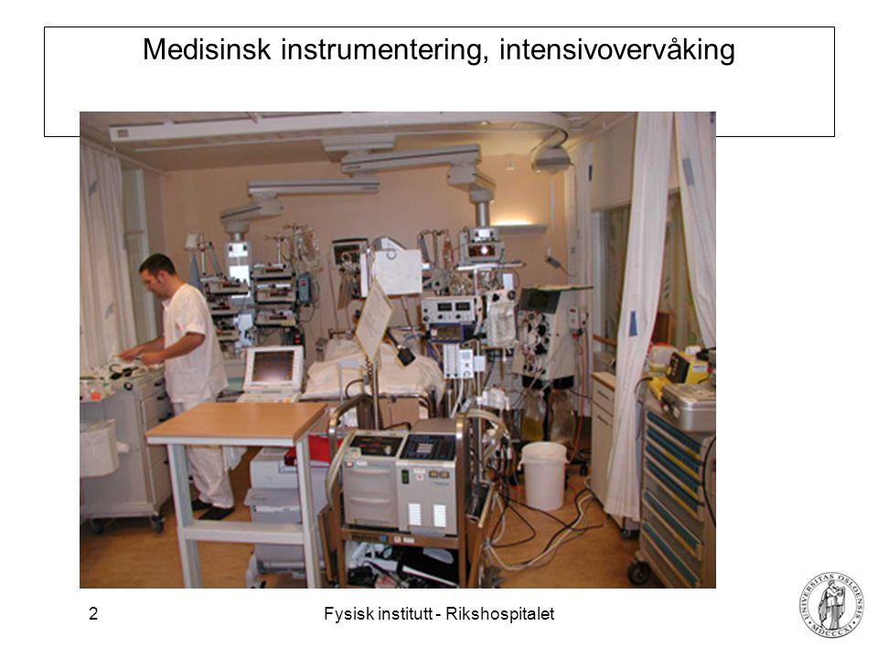 Medisinsk instrumentering, intensivovervåking