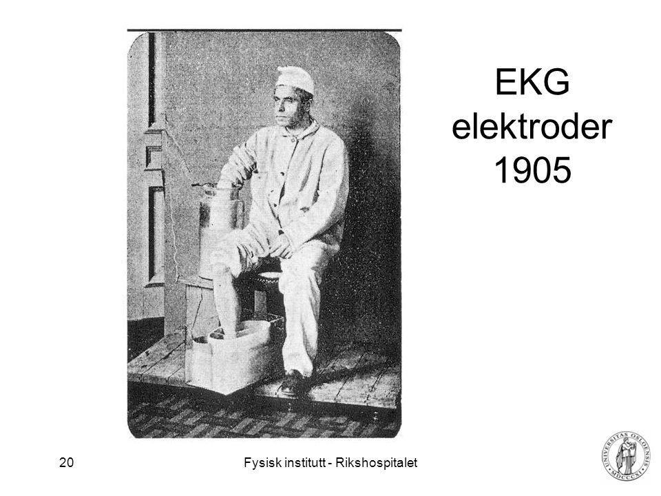 EKG elektroder 1905