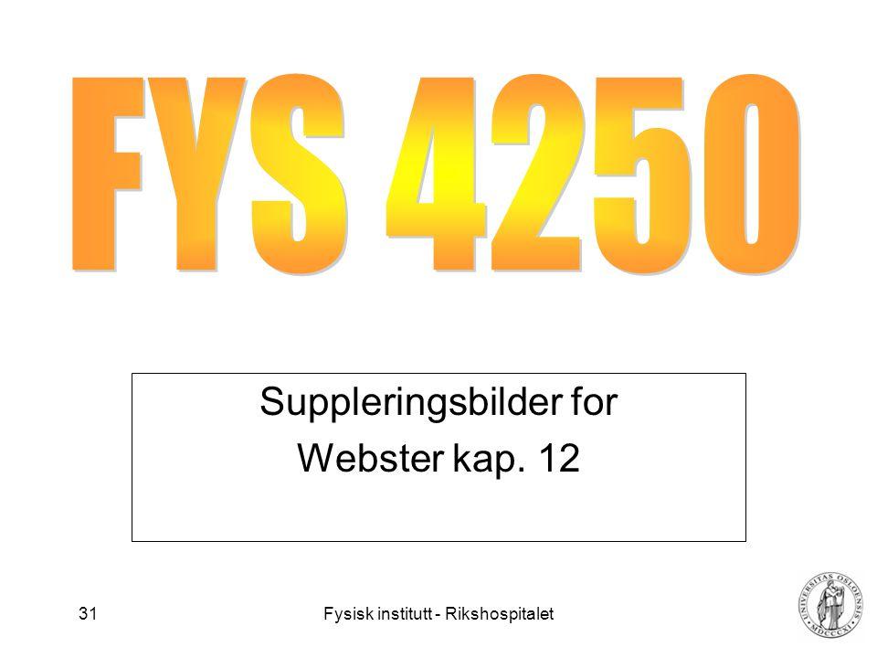 Suppleringsbilder for Webster kap. 12