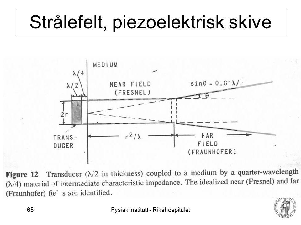 Strålefelt, piezoelektrisk skive