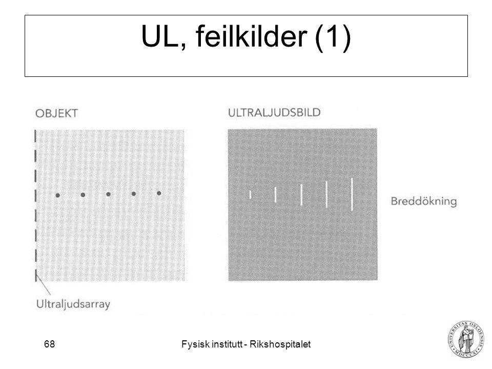 UL, feilkilder (1)